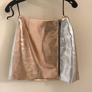 Worn once metallic skirt